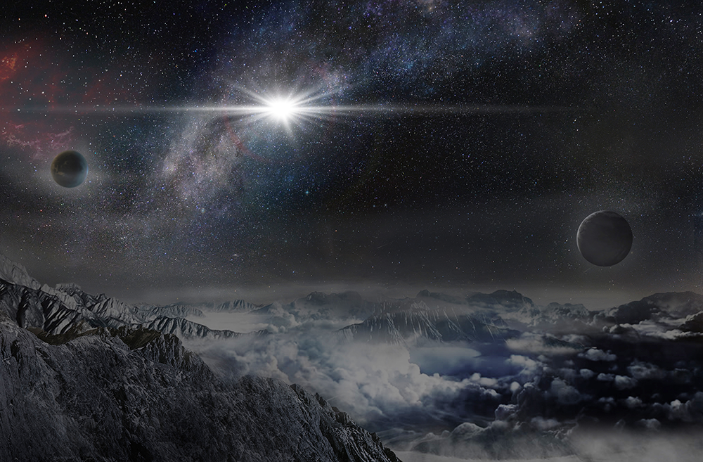 Artist's impression of superluminous supernovae ASASSN-15lh