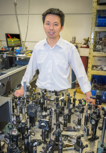 Feng Wang is a condensed matter physicist with Berkeley Lab's Materials Sciences Division and UC Berkeley's Physics Department. (Photo by Roy Kaltschmidt)