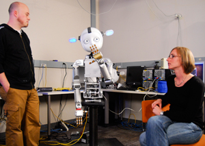 Developed at Georgia Tech, Simon the robot is designed to learn from humans the way a person would /><span class=