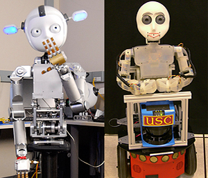 To learn more about Simon and Bandit (left to right), see the sidebar story, Social Robots in the Real World.