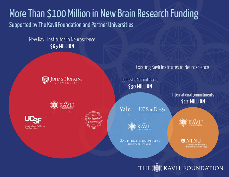The Kavli Foundation Funding Breakdown